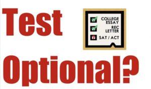 test optional SAT ACT